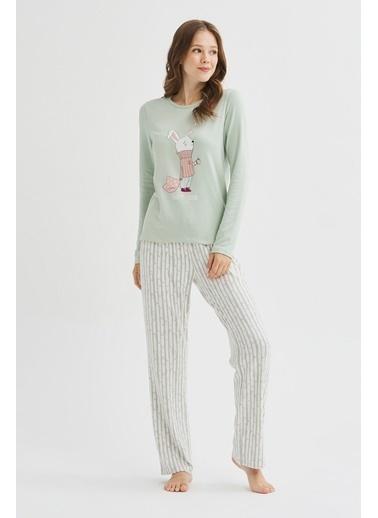 Penti Alone Termal Pijama Takımı Renkli